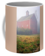 Old Red Barn In Fog Coffee Mug
