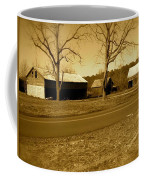 Old Red Barn In Sepia Coffee Mug