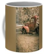 Old Red Farm Truck Coffee Mug