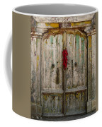 Old Ristra Door Coffee Mug by Kurt Van Wagner