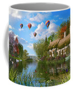 Old River Cottage Coffee Mug by Dominic Davison