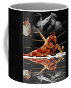 Old School Wrestling Headlock By Dean Ho On Don Muraco With Reflection Coffee Mug