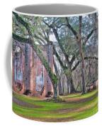 Old Sheldon Church Angled With Tombs Coffee Mug