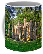 Old Sheldon Church Ruins In South Carolina Coffee Mug by Reid Callaway