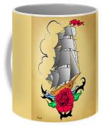 Old Ship Tattoo  Coffee Mug