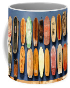 Old Skateboards On Display Coffee Mug