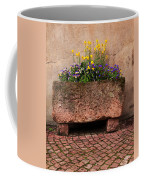 Old Stone Trough And Flowers In Alsace France Coffee Mug