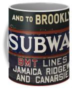 Old Subway Signs Coffee Mug