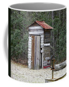 Old Time Outhouse And Pitcher Pump Coffee Mug
