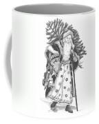 Old Time Santa With Violin Coffee Mug