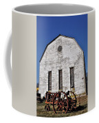 Old Tractor In Front Of Hay Barn Coffee Mug