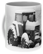 Old Tractor In The Snow Coffee Mug