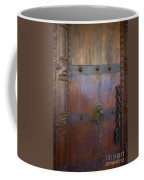 Old Vintage Door With Chain Coffee Mug