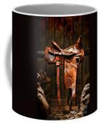 Old Western Saddle Coffee Mug by Olivier Le Queinec