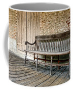 Old Wood Bench Coffee Mug by Olivier Le Queinec