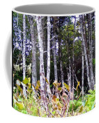 Old Wood Stand Painterly Style Coffee Mug