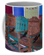 Old Wooden Benches Coffee Mug