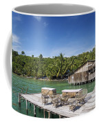 Old Wooden Pier Of Koh Rong Island In Cambodia Coffee Mug