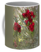 Oleander Blooms - A Touch Of Red Coffee Mug