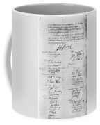 Olive Branch Petition, 1775 Coffee Mug