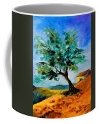 Olive Tree On The Hill Coffee Mug by Elise Palmigiani