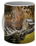 Oliver's Log Cabin During Fall In The Great Smoky Mountains Coffee Mug