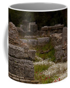 Olympia Ruins And Wild Flowers   #9684 Coffee Mug