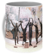 Olympic Wannabes Sculpture By Glenna Goodacre Near Infrared Coffee Mug