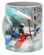 Olympics Canoe Slalom 02 Coffee Mug by Miki De Goodaboom