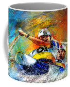 Olympics Canoe Slalom 04 Coffee Mug by Miki De Goodaboom