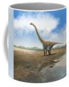Omeisaurus Tianfuensis, An Euhelopus Coffee Mug by Roman Garcia Mora