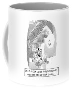 On Hold, Rick Listens To 'as Time Goes By' Coffee Mug