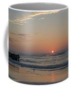 On The Beach At Sunrise - Wildwood New Jersey Coffee Mug