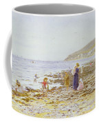 On The Beach Coffee Mug by Helen Allingham