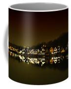 On The River At Night -  Boathouse Row Coffee Mug
