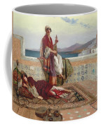 On The Terrace Tangiers Coffee Mug by Rudolphe Ernst
