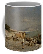 On The Waterfront At Palermo Coffee Mug by Franz Richard Unterberger