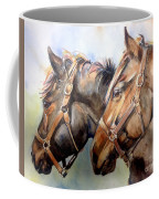 Horse In Watercolor On Watch Coffee Mug