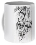 One Angel Three Cats Coffee Mug