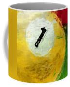 One Ball Billiards Abstract Coffee Mug