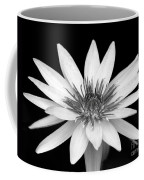 One Black And White Water Lily Coffee Mug