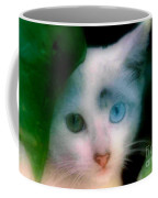 One Blue One Green Cat In New Olreans Coffee Mug