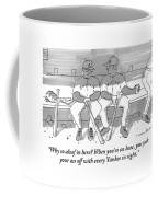 One Boston Red Sox Player Addresses Another Coffee Mug by Michael Crawford