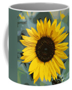 One Bright Sunflower - Digital Art Coffee Mug