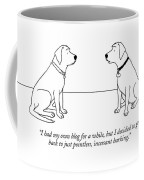 One Dog Talking To Another Coffee Mug by Alex Gregory