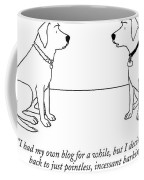 One Dog Talking To Another Coffee Mug