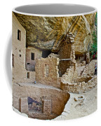 One End Of Spruce Tree House On Chapin Mesa In Mesa Verde National Park-colorado Coffee Mug