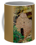 One Entry To Spruce Tree House On Chapin Mesa In Mesa Verde National Park-colorado  Coffee Mug