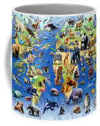 One Hundred Endangered Species Coffee Mug by Adrian Chesterman