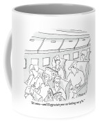 One Man, Sitting In The Window Seat Of A Plane Coffee Mug